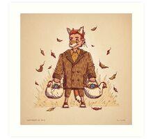 Fantastic Mr Fox Trick or Treat Art Print