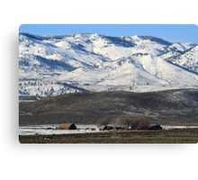 Barns and Farmhouse in Cold Springs,Reno,Nevada USA Canvas Print