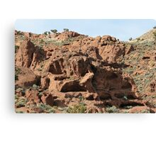 Red Lava Rocks,near Pyramid Lake,Nevada USA Canvas Print