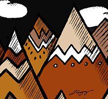 Dusty Mountain 2 by Jenna Gregory