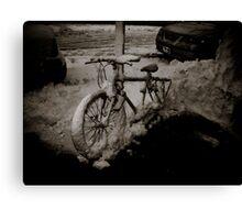 Snow Bike Canvas Print