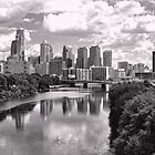 Philly Skyline in B&W by Raymond  Snip