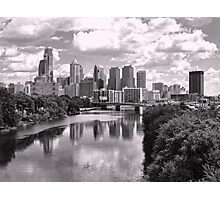 Philly Skyline in B&W Photographic Print