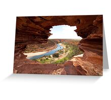 Looking through Natures Window Greeting Card