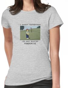 Lee Carvello's Putting Challenge Womens Fitted T-Shirt