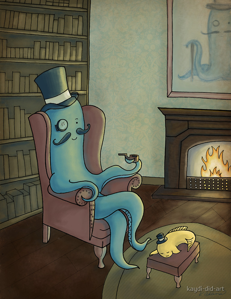 Relaxing in the Study by kaydi-did-art
