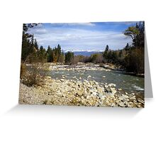 Distant Snow Capped Mountains Greeting Card