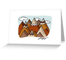 Dusty Mountain Greeting Card