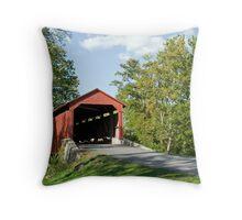 Lancaster County Covered Bridge Throw Pillow