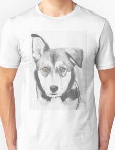 Husky Shepherd Cross with Brown Eyes T-Shirt