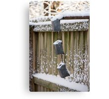 Snowy Fence Canvas Print
