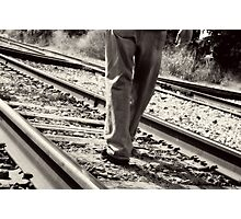 Follow the Rails Photographic Print