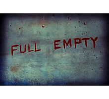 Full / Empty - Nothing In Between Photographic Print