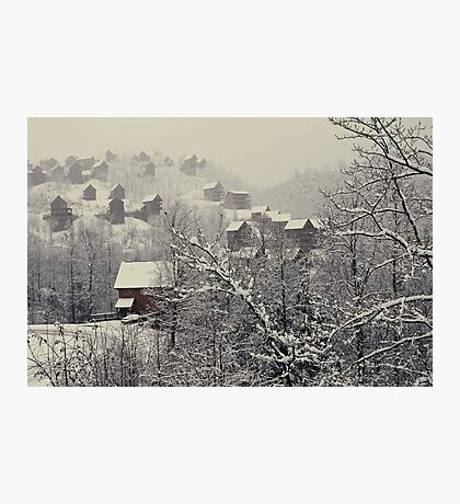 A White Christmas In the Blue Ridge Mountain Photographic Print