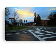 Sunset on John Fountain RD Canvas Print