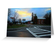 Sunset on John Fountain RD Greeting Card