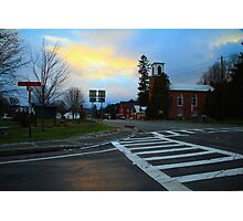 Sunset on John Fountain RD Photographic Print