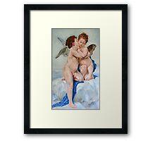 First Kiss after W. Bouguereau Framed Print