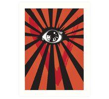 VENDETTA alternative movie poster eyeball print Art Print