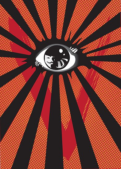 VENDETTA alternative movie poster eyeball print by SFDesignstudio