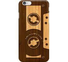 Bamboo Look & Engraved Life is a Mix Tape iPhone Case/Skin