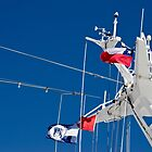 Ship Lines and Flags by Gerda Grice