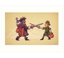 Peter Pan Trick or Treat Art Print