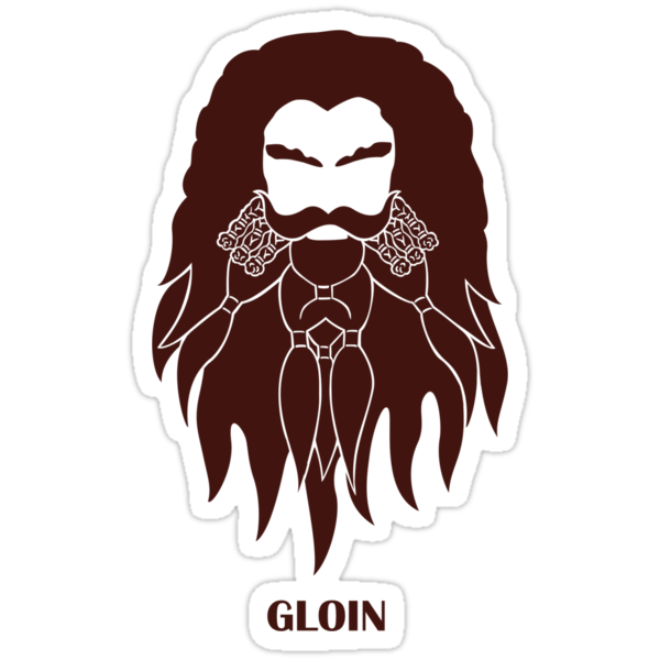 An Unexpected Sticker: Gloin by geeksweetie