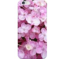 Pink And White Hydrangea Flowers iPhone Case/Skin