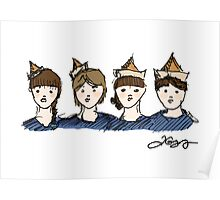 Paper Hats Poster