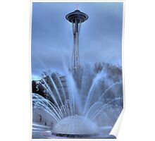 Fountain and the Needle Poster
