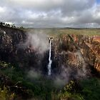 Wallaman Falls in the Mist by Stephen  Nicholson