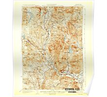 USGS TOPO Map New Hampshire NH Rumney 330333 1932 62500 Poster