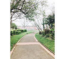 Foggy Park Entrance Photographic Print