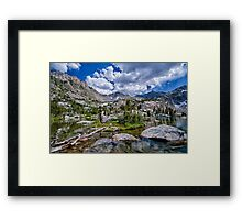 Treasure Lakes Framed Print