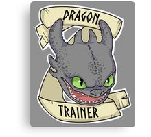 Toothless - Dragon Trainer Canvas Print
