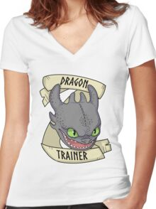Toothless - Dragon Trainer Women's Fitted V-Neck T-Shirt