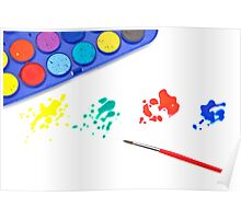 Color splashes Poster