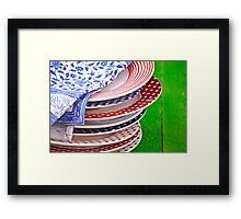 colorful plates Framed Print