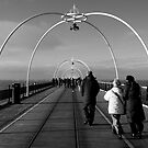 On Southport Pier, New Year's Day by Nick Coates