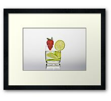 lemon juice Framed Print