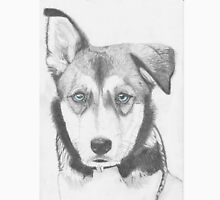 Husky Shepherd Cross with Blue Eyes Unisex T-Shirt