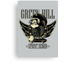 Green Hill Sprint Demon - Prints, Stickers, iPhone and iPad Cases Canvas Print