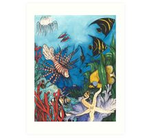 Tropical Fish Scorpion Angels Neons Cathy Peek Art Print