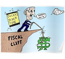 Joe Biden rescues Bucky at the Fiscal Cliff Poster