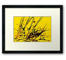 Strike Out Yellow and Black Abstract Framed Print
