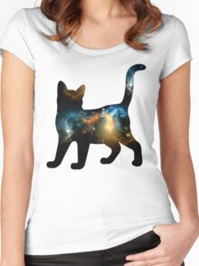 CELESTIAL CAT 2 Women's Fitted Scoop T-Shirt