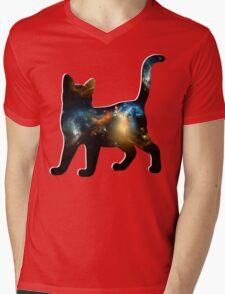 CELESTIAL CAT 2 Mens V-Neck T-Shirt