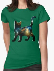 CELESTIAL CAT 2 Womens Fitted T-Shirt