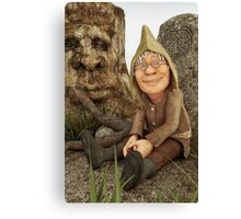 The Gnome and The Forever Sleeping Tree Canvas Print